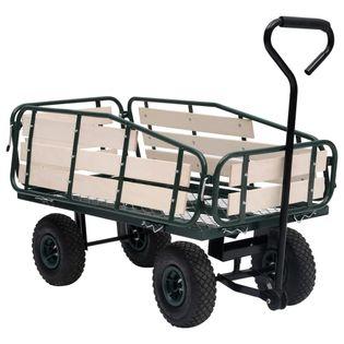 Ogrodowy wózek ręczny metal i drewno 250 kg VidaXL