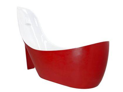 Wanna 200x80x150 damska szpilka syfon czerwona mat akryl nowa