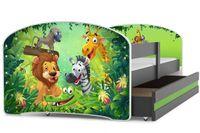 Łóżko łóżka dziecięce dla jednej osoby LUKI 160x80 + BARIERKA