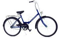 """Rower Uniwersal Składak 24"""" 1spd - niebieski"""