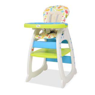 Krzesełko do karmienia 3w1 niebiesko-zielone