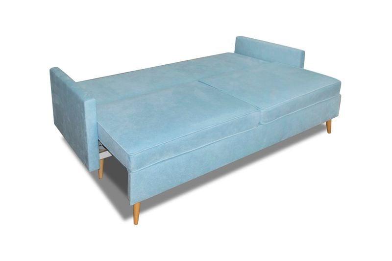 Kanapa Sofa BLUE rozkładana bonell Skandynawska zdjęcie 3