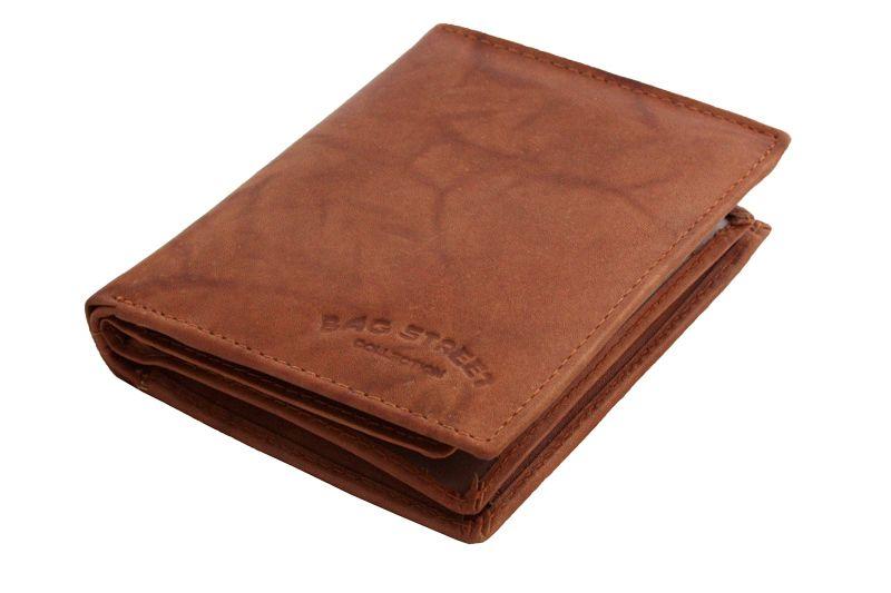 ea406c74a210d Męski super wyposażony pionowy portfel skórzany Bag Street jasny brąz  zdjęcie 2