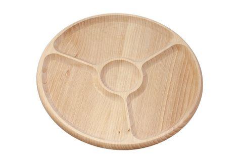 Drewniany półmisek dzielony - 3+1 część
