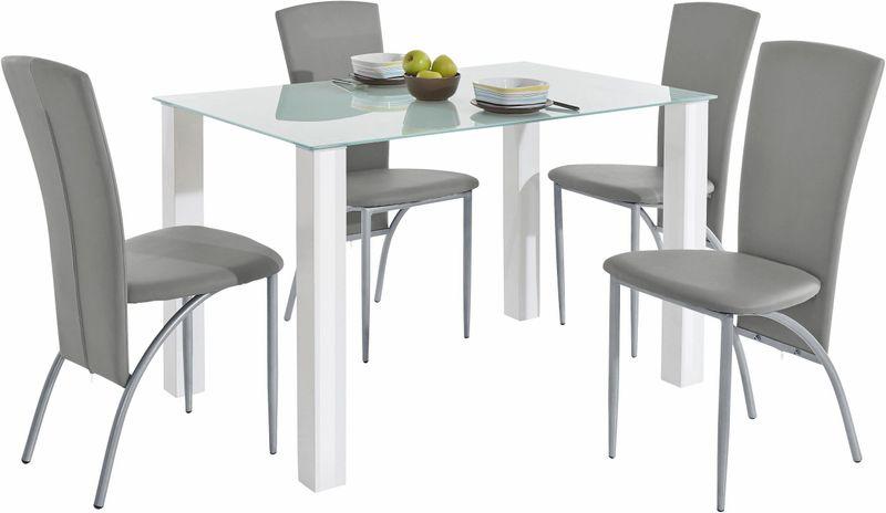 Nowoczesny zestaw stół i cztery krzesła zdjęcie 1