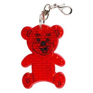 Brelok odblaskowy Teddy, czerwony