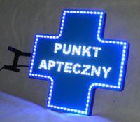 KRZYŻ APTECZNY PUNKT APTECZNY kaseton reklama neon panel diodowa led