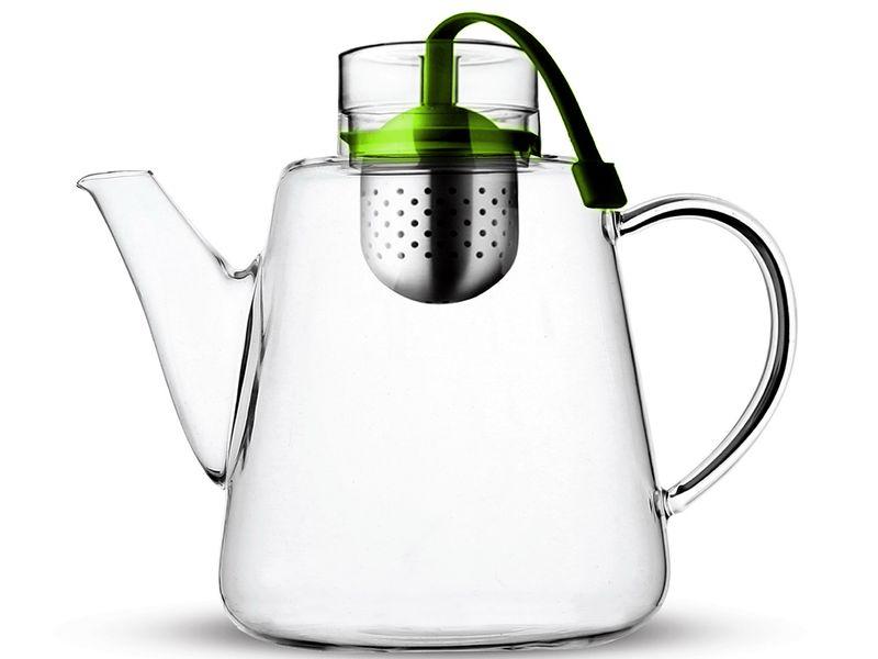 Dzbanek z zaparzaczem herbaty ziół 1500ml 1,5 l Szklany Vialli Design zdjęcie 1