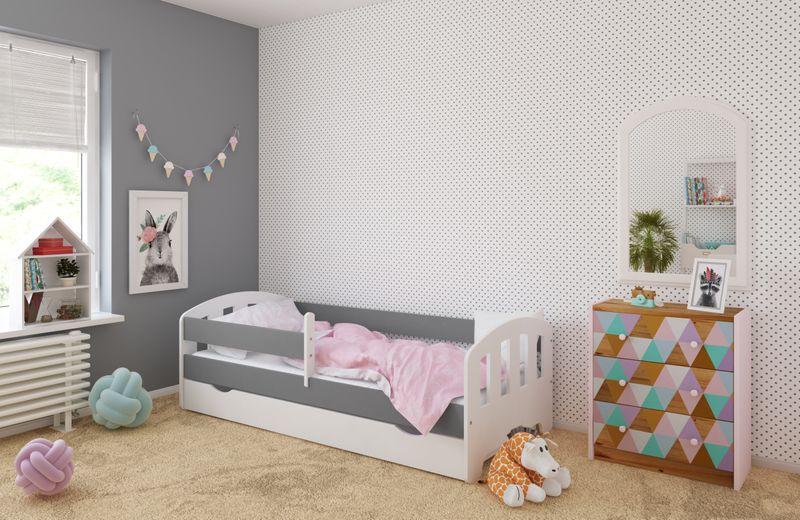 Łóżko FIFI 140x80 + szuflada + barierka zabezpieczająca + MATERAC zdjęcie 6