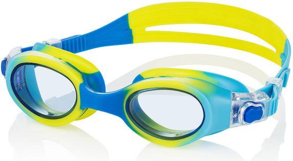 Okulary pływackie PEGAZ Kolor - Pegaz - 18 - niebieski / żółty / jasne szkła