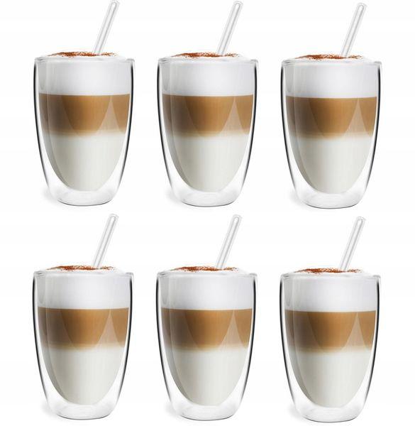 Szklanki Termiczne Podwójna Ścianka Kawa Herbata 350ml Vialli Design 6 zdjęcie 1