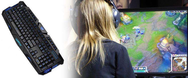 Podświetlana Klawiatura gamingowa dla graczy LED M166 zdjęcie 2