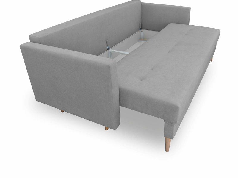 Kanapa rozkładana z funkcją spania, skandynawska sofa Säffle zdjęcie 6
