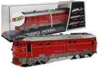 Pociąg Lokomotywa Pendolino z Napędem Światła i Dźwięk Czerwony