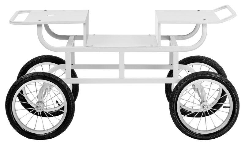 Wózek do waty cukrowej - 2 półki Royal Catering RCZT-01W zdjęcie 5