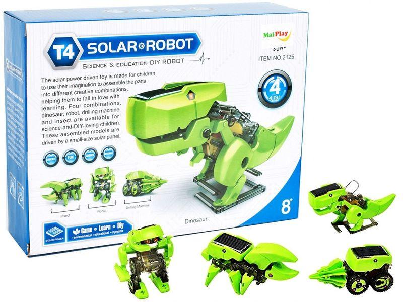 Zabawka Edukacyjna Dinozaur Robot Solarny DIY iko zdjęcie 1
