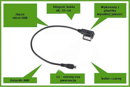 Kabel AMI do Micro USB Audi MMI Skoda VW Seat ???? Arena.pl