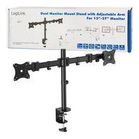 "Uchwyt do monitora podwójny LCD/LED LogiLink VESA 100x100, 13-27"""