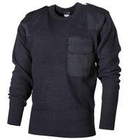 Sweter BW wojskowy niebieski długi
