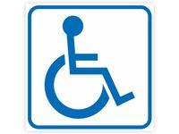 Naklejka INWALIDA znak niepełnosprawni 20x20cm