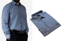 50/51 - 6XL Duża koszula męska elegancka szara gładka Laviino