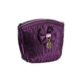 Portmonetka satynowa LOLA w kolorze fioletowym