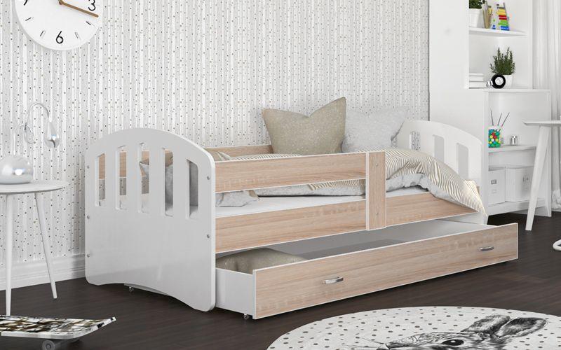 Łóżko HAPPY 180x80 szuflada + materac na Arena.pl