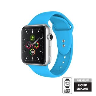 Crong Liquid Band - Pasek do Apple Watch 38/40 mm (niebieski)