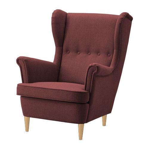 Fotel KING IKEA uszak tapicerowany bordowy HIT zdjęcie 1
