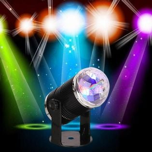 Projektor kula diodowa discoRGB 3x1W