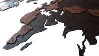 Mapa świata na ścianę 16mm drewno 200x100 drewno