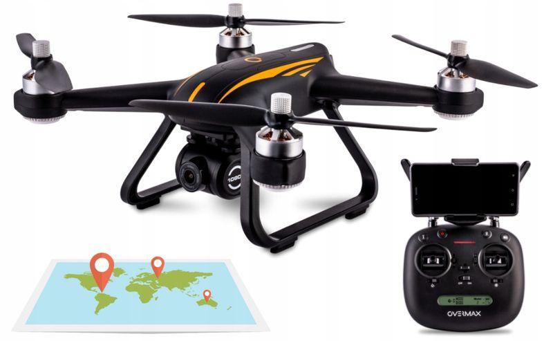 Dron OVERMAX X Bee Drone 9.0 GPS FULL HD follow me WiFi FPV na Arena.pl