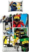 Pościel Dziecięca 140x200 Lego Ninjago Nindżago Ninja Bawełniana140
