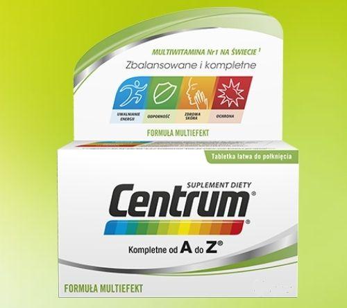 Centrum kompletne od A do Z 100 tabletek - Długi termin ważności! na Arena.pl