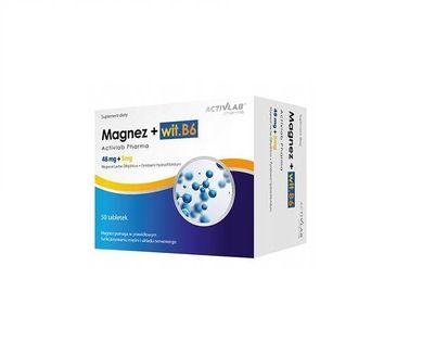 Magnez+B6 Organiczny Witamina B6 50 kapsułek