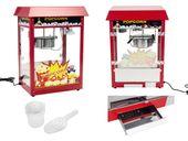 Maszyna do popcornu - 1495 W - czerwony daszek Royal Catering RCPS-14