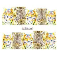 Wodne naklejki na paznokcie BN-088 tygrys