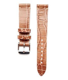 Pasek do zegarka 18mm skóra beżowy - krokodyl - polskie - Lamato
