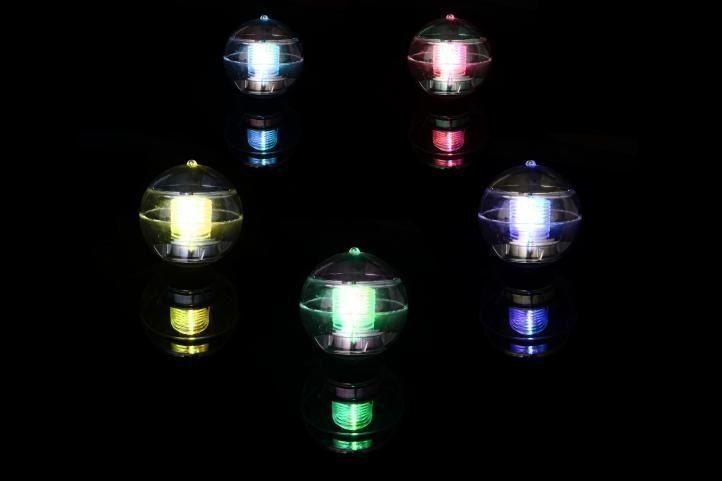 Lampa solarna kolorowa LED, lampion ogrodowy w kształcie kuli zdjęcie 4