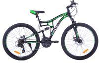 """Fuzlu Perfect Power 2D 26"""" shimano czarno-zielony rower ST-EF"""