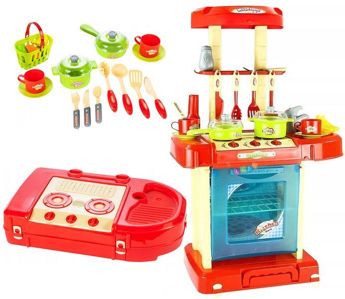 Kuchnia dla dzieci w walizce Piekarnik Zlew Akcesoria kuchenne U07 zdjęcie 1