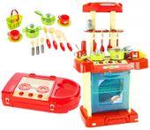Kuchnia dla dzieci w walizce Piekarnik Zlew Akcesoria kuchenne U07