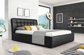 Łóżko tapicerowane MALAGA 160 z materacem POCKET