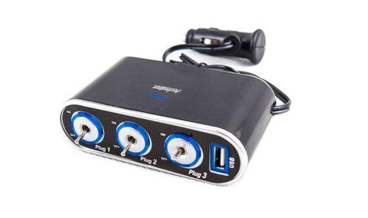 ROZDZIELACZ ZAPALNICZKI TRÓJNIK ROZGAŁĘŹNIK USB FV SmartC 3X