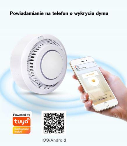 BEZPRZEWODOWY CZUJNIK DETEKTOR DYMU WiFi Tuya HQ na Arena.pl