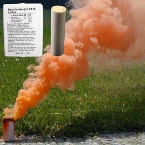 Świeca dymna AX-18 pomarańczowa - 5szt