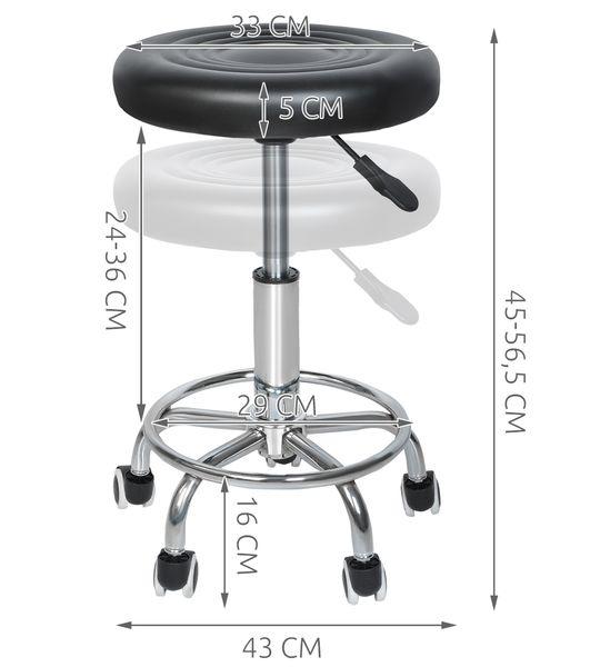 Stołek Fryzjerski Kosmetyczny Krzesło HOKER czarny 5178 zdjęcie 2