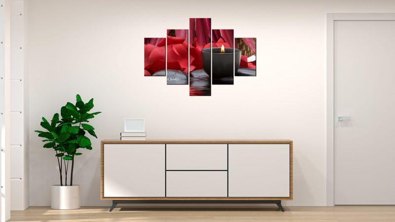 Obraz Na Ścianę 100X70 Świecznik Spa Świecznik Sp zdjęcie 3