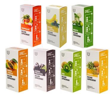 Zestaw Smart - 7 owocowych olejków zapachowych (owocowo-tropikalny)