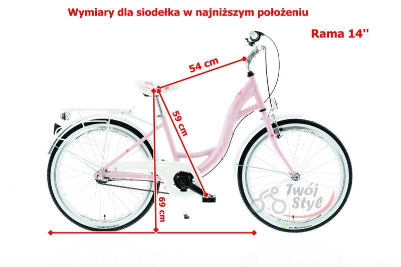 ROWER 24 KANDS OLIVIA NEXUS NA KOMUNIE RÓŻOWO-BIAŁY MAT 2020 r. na Arena.pl